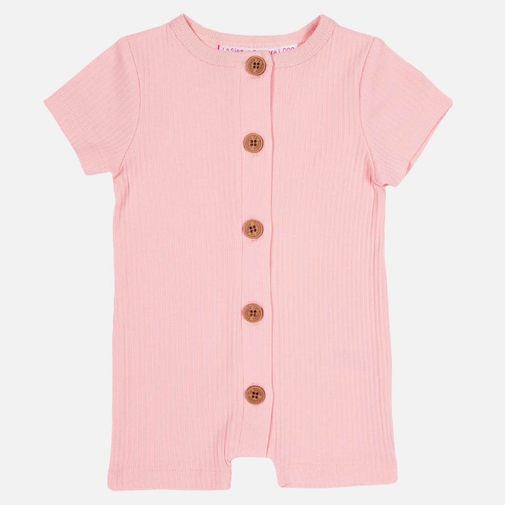 Cozy Summer Louie Romper - Tea Rose Pink