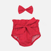 Bloomers + Bow - Red Polka Dot