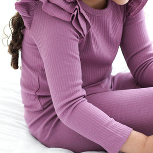 Cozy Long Sleeve Flutter - Wild Berry
