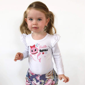 Baby Shark - Custom - Girls Flutter/Unisex Tee