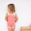 Cozy Vintage Tie-Up Singlet - Burnt Rose