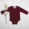 Long Sleeve Basic Unisex Top - Maroon