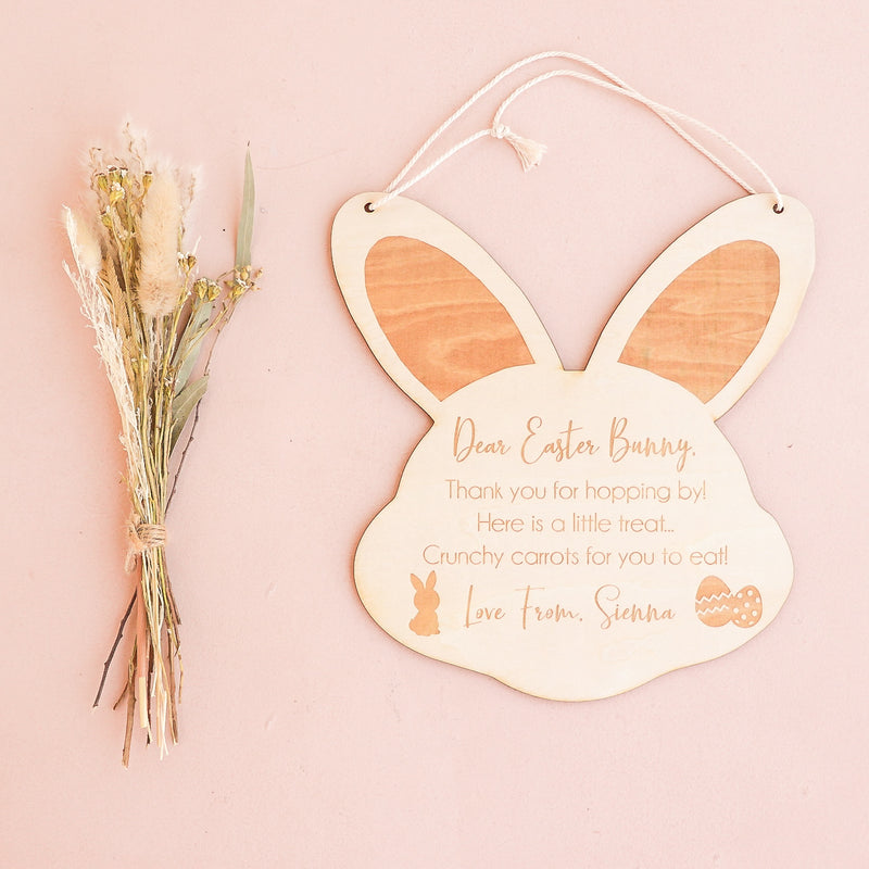 Wooden Sign - Easter Bunny Thank You For Hopping