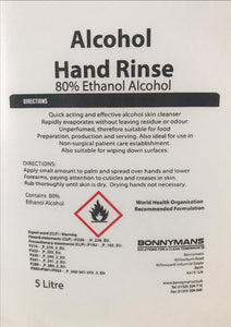 Rinse 80%  Alcohol 500ML/ 1L / 5L