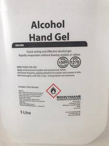 Gel 70% Alcohol 500ML / 1L / 5L