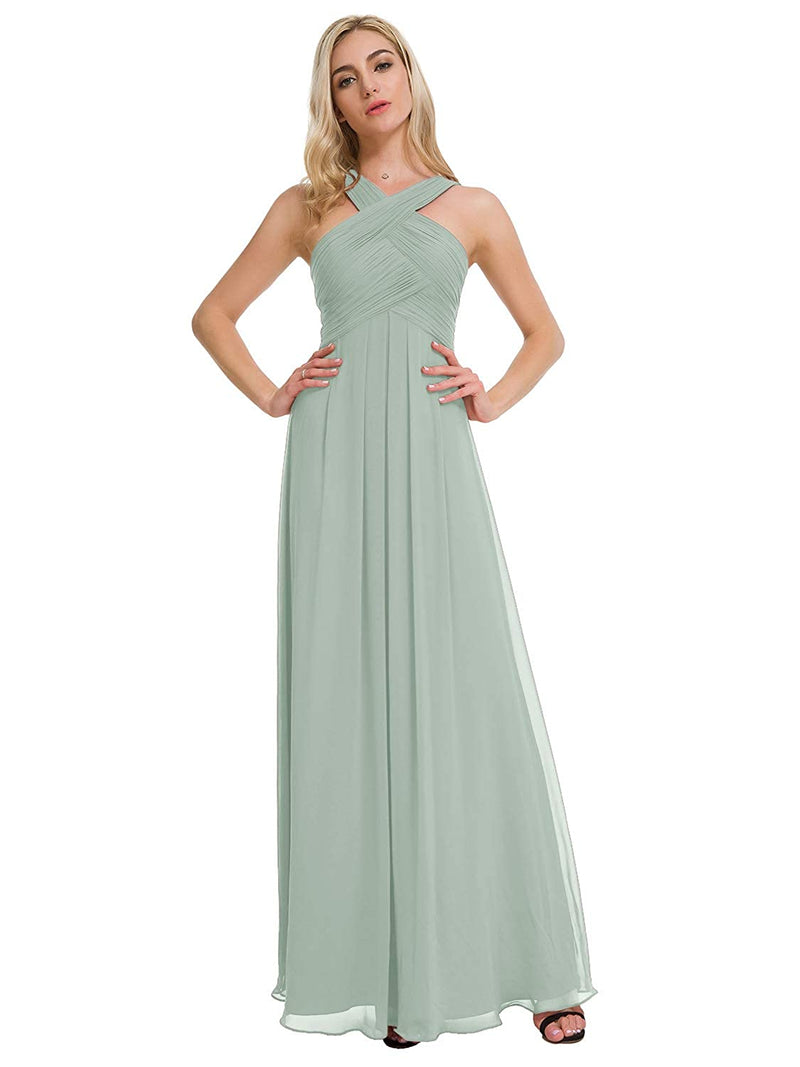 Silver Pink US6 Alicepub One Shoulder Bridesmaid Dress for Women Long Evening Party Gown Maxi