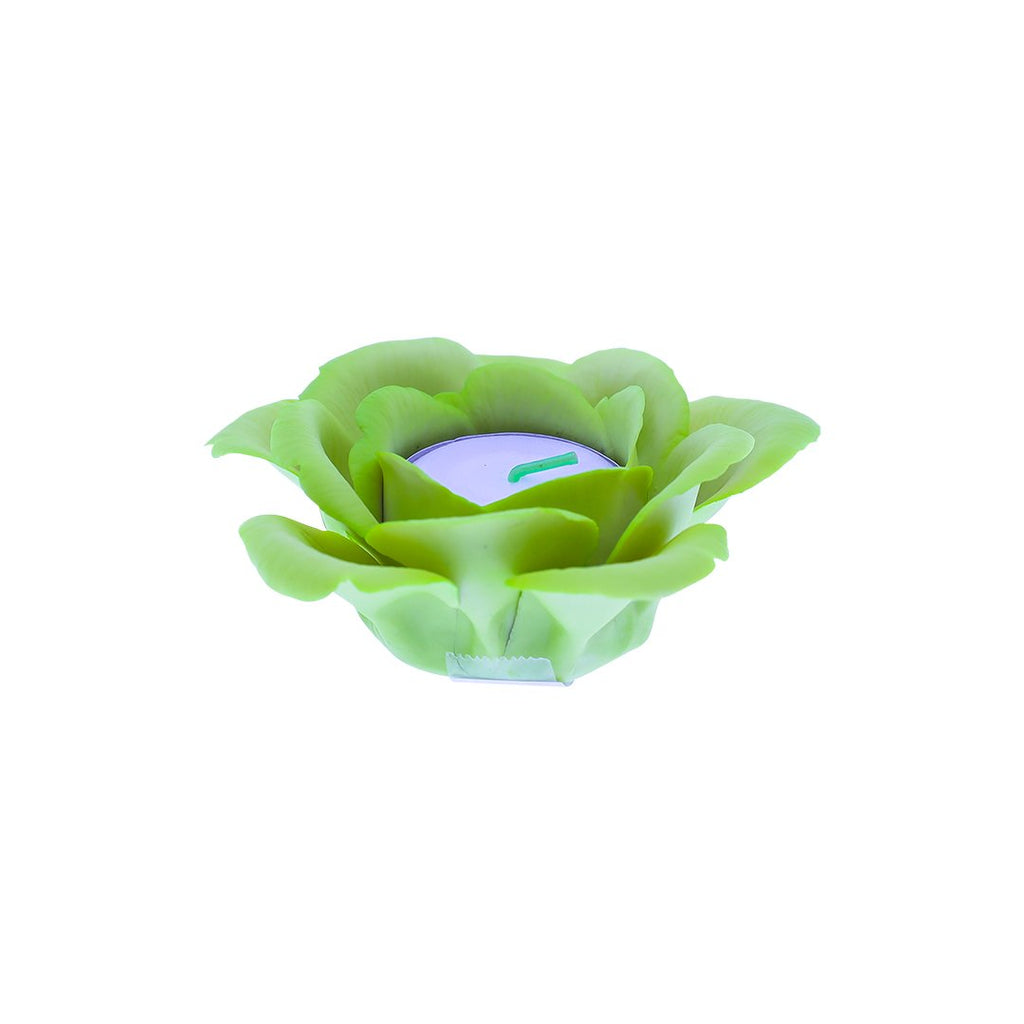 SINGLE ROSE CANDLE HOLDER 0127-LIGHT GREEN COLOR