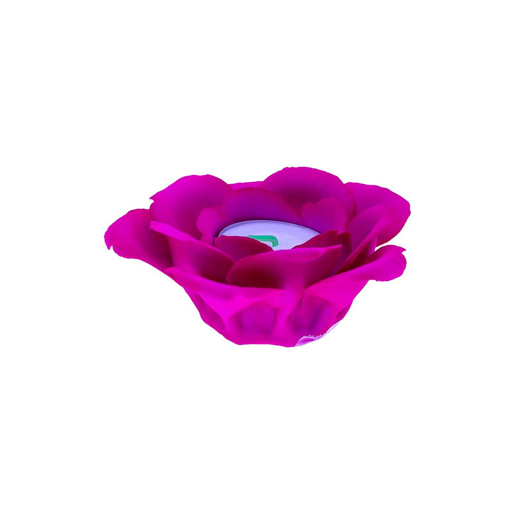 SINGLE ROSE CANDLE HOLDER 0127-PINK COLOR