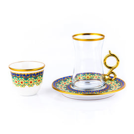 BYBLOS SET OF 18PCS TEA & COFFEE CUP & SAUCER