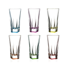FUSION SET 6 PCS TUMBLERS - HB - COLOURED - RCR TRENDS - 25993020006