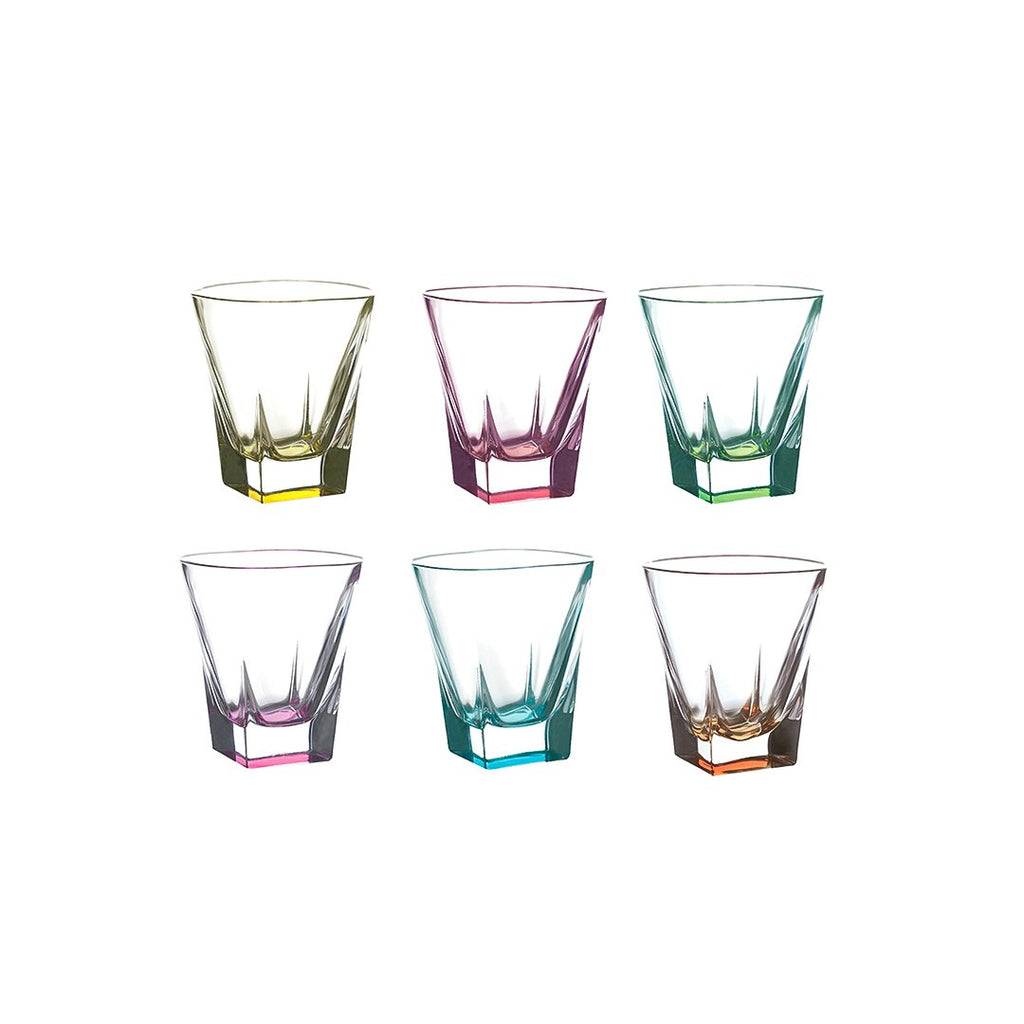 FUSION SET 6 PCS LIQUEUR TUMBLERS -5 - COLOURED - RCR TRENDS - 26013020006