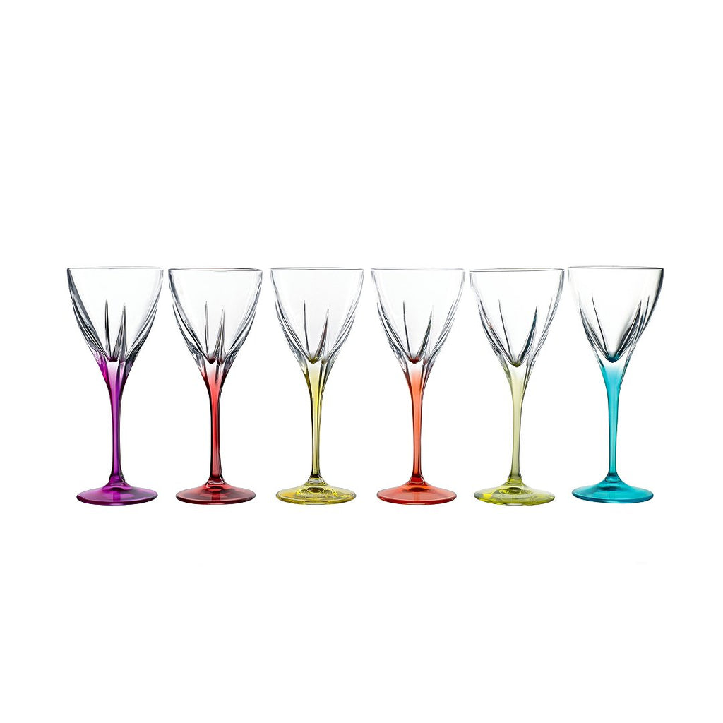FUSION SET 6 PCS GOBLETS - 02 - COLOURED - RCR TRENDS - 26014020006