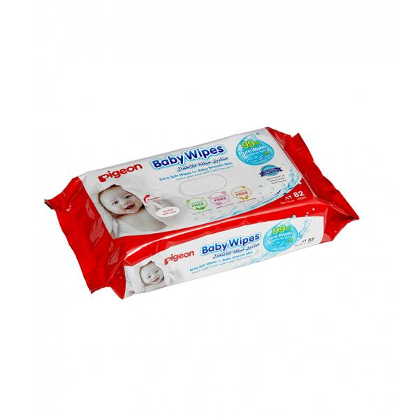 PIGEON BABY WIPES 82S/REFILL 99%WATER