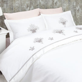 MARIBOR  COTTON SATEEN FRENCH LACE DUVET SET  3-3020