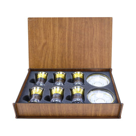 TEA SET WOODEN BOX 62561K-ITL2