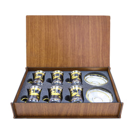 TEA SET WOODEN BOX 62561K-ITL4