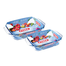 Pyrex - Irresistible Set of 2 (3-8_2-9L) Rectangle 912S732