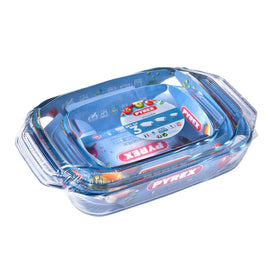 Pyrex - Irresistible Set of 3 (2-8_2-9_1-4L) Rectangle 912S735