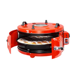 Erciyes Electric Round Oven With Thermostat Red Color 45 Liter A501