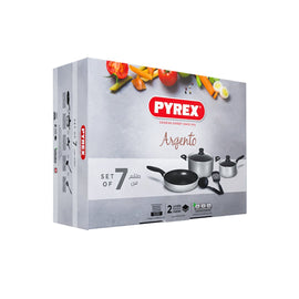 PYREX ARGENTO 7PC COOKWARE SET ARS04M9