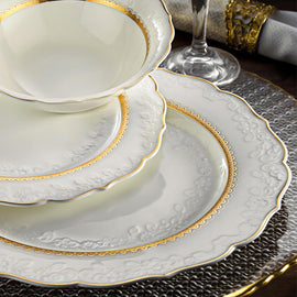 ROYAL QUEEN PORCELAIN 83PCS DINNER SET 60013