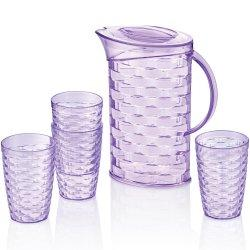 MIRADAN RATTAN PLASTIC WATER SET 5PC