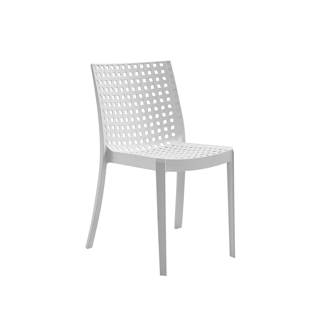 BICA KELLY RESIN MONOB. CHAIR WHITE - BICA-558
