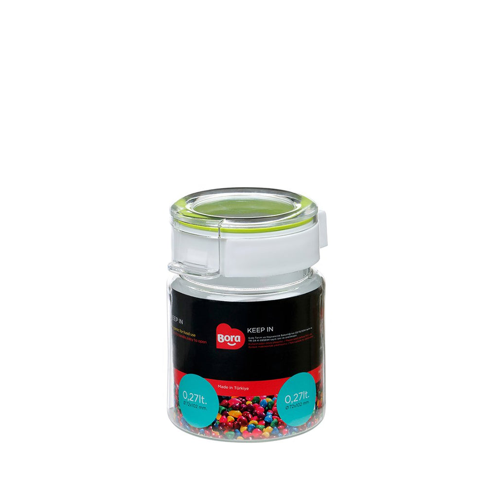 PET ROUND STORAGE  0.27 Lt. JAR 63MM   BO2210