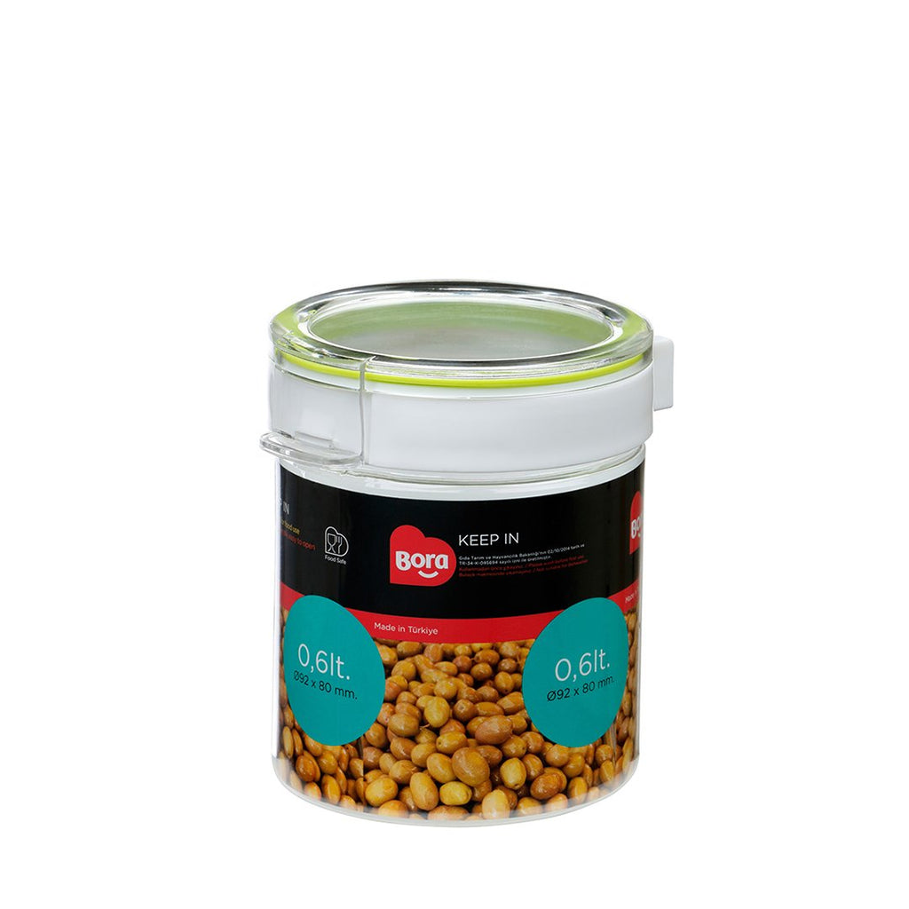 PET ROUND STORAGE 0.60Lt.   JAR 89MM   BO2221