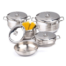 BONERA 9PCS STAINLESS STEEL COOKWARE SET BO10451