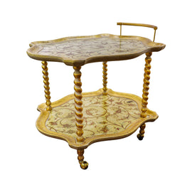SHAPED TEA CART CM 70X83X70H ARTEMESIA ORO