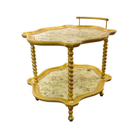 SHAPED TEA CART CM 70X83X70H CLELIA ORO