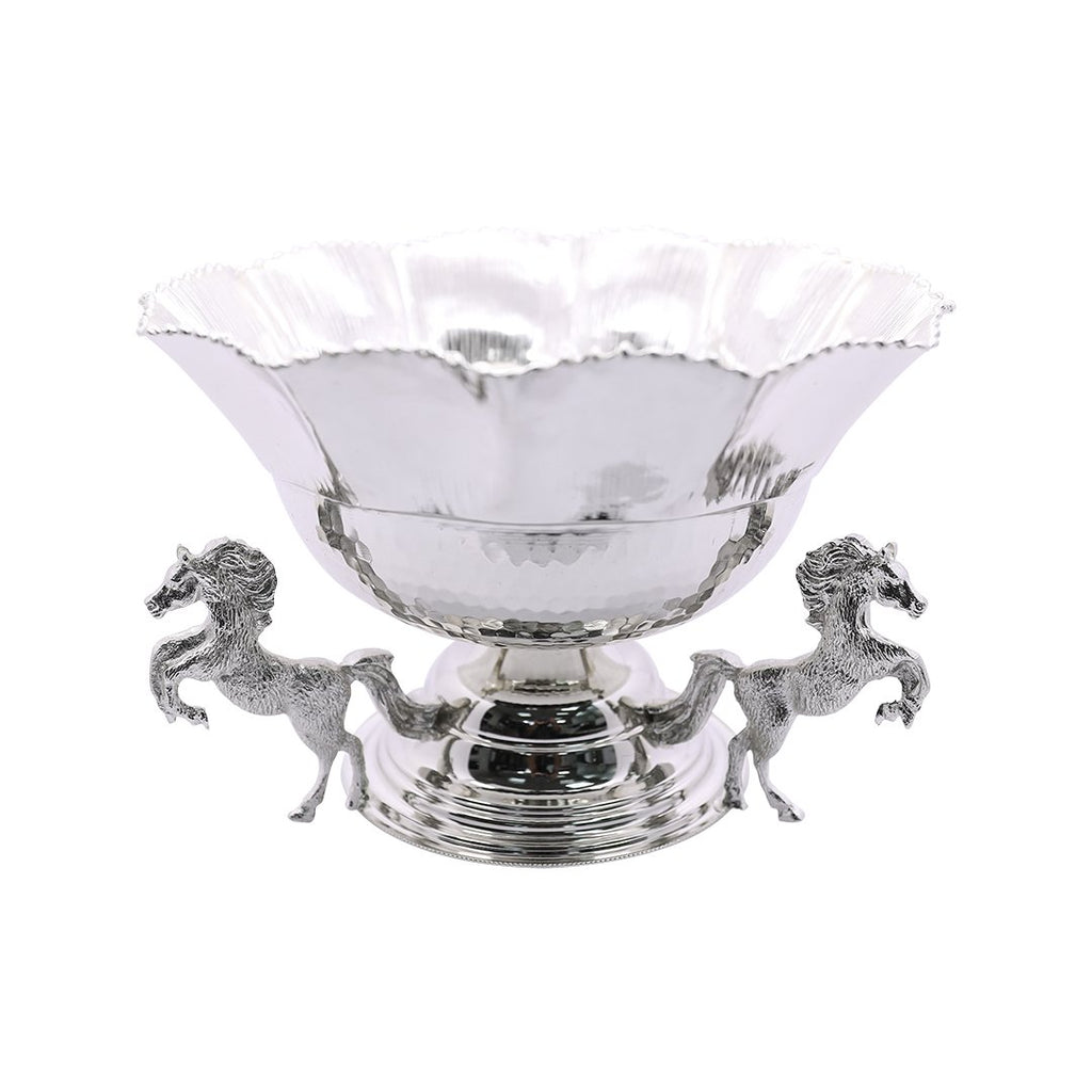 CEMET HORSE DECORATED BOWL NICKEL CMT-0219