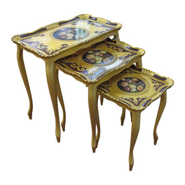 THREE TABLE SET FRAGRANZA ORO /ORSO