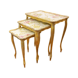 THREE TABLE SET 35X57X58H VAL D'ORCIA ORO CT-400-5-3520