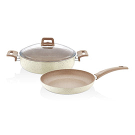 DEPA-CREAM 24CM SHALLOW POT FRYING PAN SET DE-7553