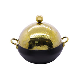 GOLD HAMMERED DOME SHAPE HOTPOT 3LTR DOME DHP-8002GHB