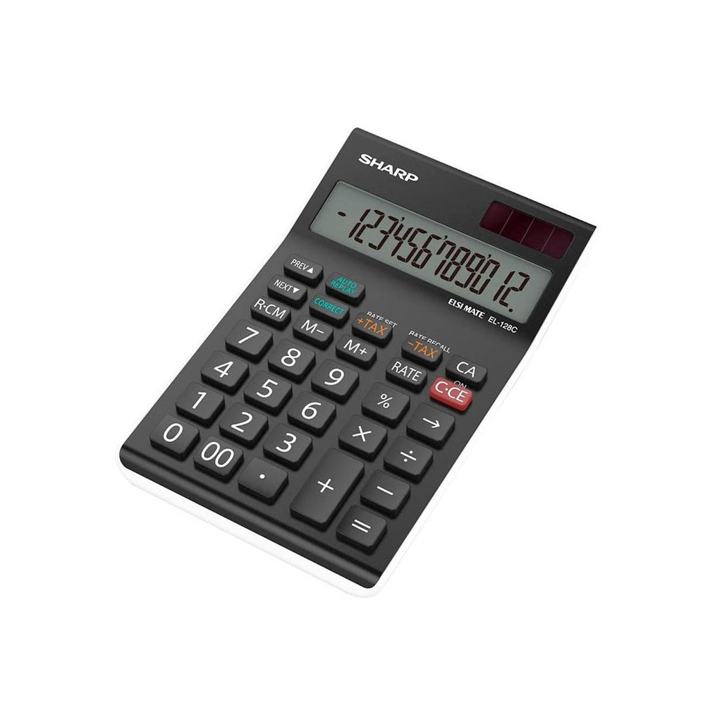 Sharp Desktop Calculator EL-128C-WH