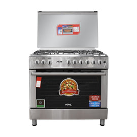 ALM GAS COOKER 90CM X60CM  5 BURNER  STAILNESS STEEL  F9P50G2-HIFX