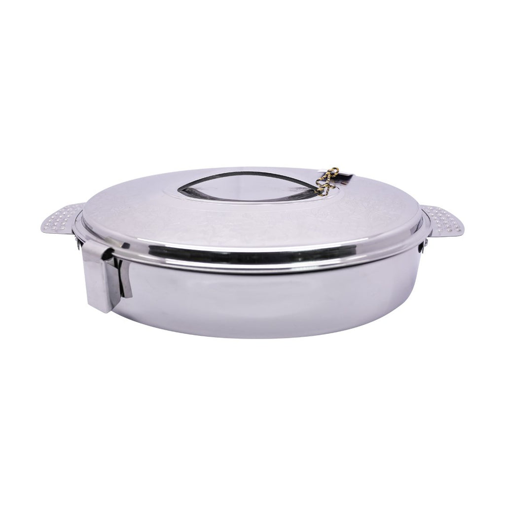 Elham Oval Silver Color Hot Pot Size: 5.0 Liter HP-247-5.0