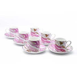 KOSOVA PORCELAIN COFFEE CUP/SAUCER S/6 100ML