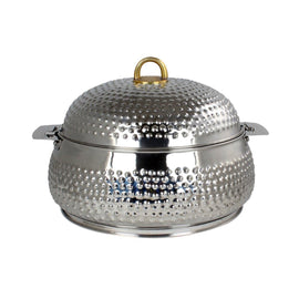 NEW KING BELLY HOTPOT W/MILANO SILVER 6000 ML
