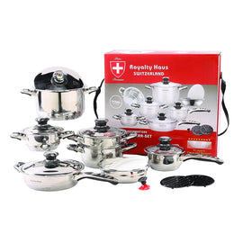 Royalty Haus 16 Pcs Stainless Steel Cookware Set RH-16