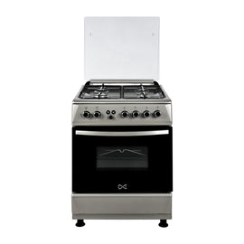 DE 4 BURNER GAS COOKER 60X60 CM SILVER   WCGF66TN