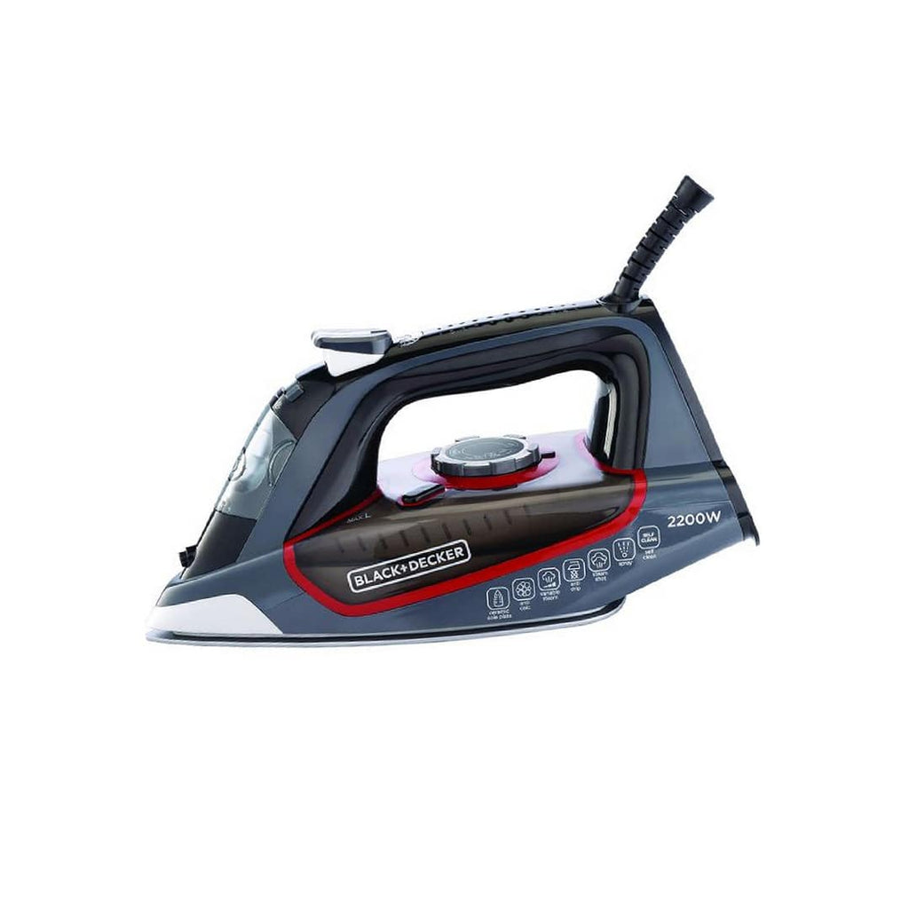BLACK+DECKER STEAM IRON W/CERAMIC PLATE 2200 WATTS X2050-B5