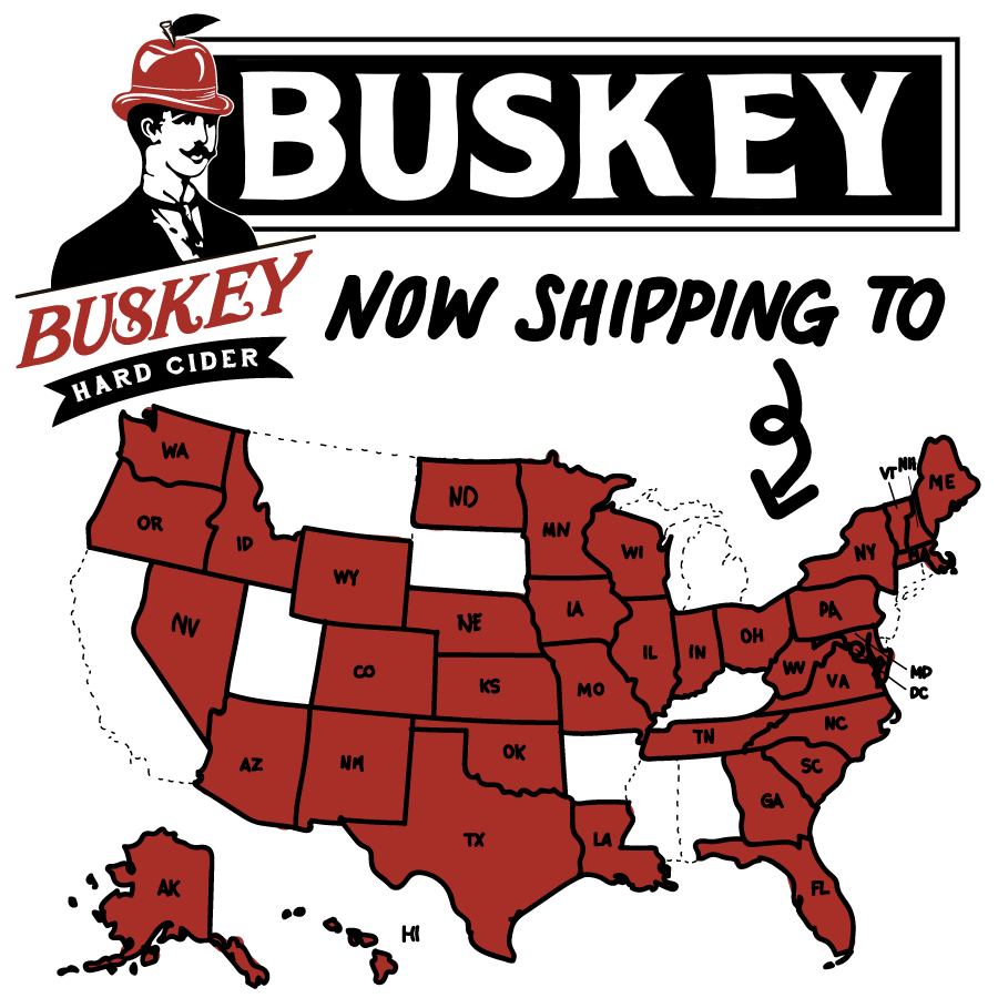 States where Buskey Cider can ship