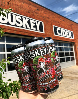 Buskey Watermelon Rosemary Cider (4-Pack or Case)