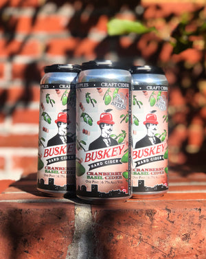 Buskey Cranberry Basil Cider (4-Pack)