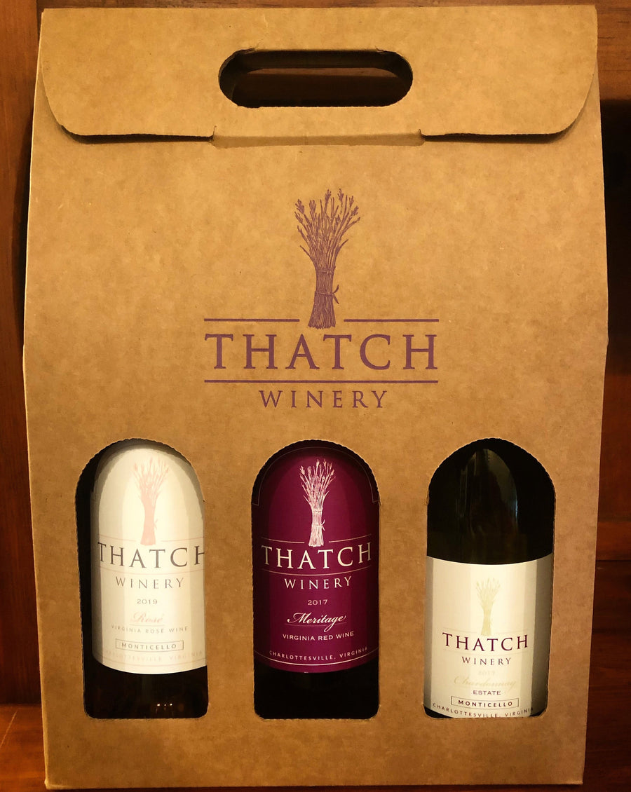 Thatch Winery 3-Pack of Wine Bottles