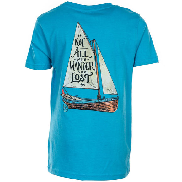 Lost Ships - Boy's T-Shirt - Blue